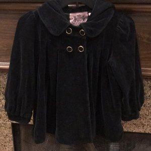 Rare Black Velour Juicy Couture Jacket Hoodie